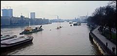 River Thames, London 1971... (iEagle2) Tags: thames london england minolta srt101 film seventies 1971 slide ektachrome