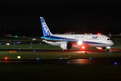 JA839A All Nippon Airways (ANA) Boeing 787-9 Dreamliner (buchroeder.paul) Tags: eddl dus dusseldorf düsseldorf international airport flughafen deutschland germany europa europe external night nacht ground boden ja839a all nippon airways ana boeing 7879 dreamliner