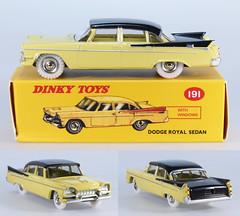 DIN-A-191-Dodge-yellow-black (adrianz toyz) Tags: adrianztoyz dinky toys diecast toy model car 191 dodge royal atlas editions reissue yelow black copy reedition