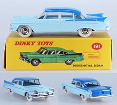 DIN-A-191-Dodge-blue-tt (adrianz toyz) Tags: adrianztoyz dinky toys diecast toy model car 191 dodge royal atlas editions reissue twotone blue copy reedition