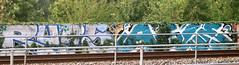 Trackside Graffiti (wojofoto) Tags: amsterdam graffiti streetart nederland netherland holland wojofoto wolfgangjosten trackside railway spoorweg spoor rubs asle