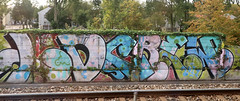 Trackside Graffiti (wojofoto) Tags: amsterdam graffiti streetart nederland netherland holland wojofoto wolfgangjosten trackside railway spoorweg spoor ld ldcrew