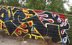 Trackside Graffiti (wojofoto) Tags: amsterdam graffiti streetart nederland netherland holland wojofoto wolfgangjosten trackside railway spoorweg spoor gear