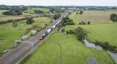 Freightliner at Heamies Farm (robmcrorie) Tags: freightliner intermodal heavies farm norton bridge phantom 4 trafford park felixstowe heamies