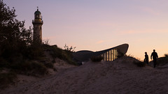 """Warnemünde, Lighthouse and """"Teepott"""""""
