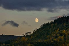 moonrise (Fay2603) Tags: moon moonrise natur landscape landschaft badenwürttemberg schwabenland sky himmel wolken clouds mond mondaufgang wald forest autumn herbst autunno