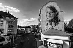 Reflecting (kiwi photo lover) Tags: germany rhinelandpalatinatestate koblenzlützel graffiti streetart artist hendrikbeikirch ecb portrait painting imagery art womensshelter domesticviolence society reflection reflecting sociocritical