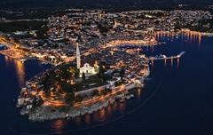 Rovinj (ketil.melby) Tags: croatia rovinj adriatic sea istria mediterranean night scenery drone mavic 2 pro dji hasselblad