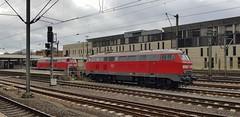 DB 218 837, 218 824, ICE Abschleppploks. Hannover Hbf, 10okt19 (verhaarthom) Tags: trein train spoorweg eisenbahn deutschebahn br218 hannover duitsland deutschland germany