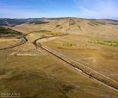 2ZAGAL-001 UBTZ, Bumbat - Khonkhor (Mongolia) (Martin Válek) Tags: mongolsko mongolei transmongolianrailway ulaanbaatarrailway rail railway railroad train locomotive zug eisenbahn vlak železnice khonkhorloop