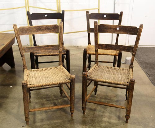 4 Spitzer Family/Rockingham County split bottom chairs ($179.20)