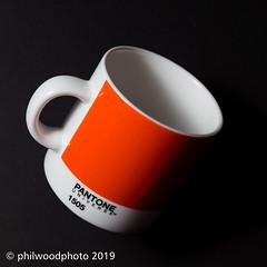 365-2019-283 - 1505 (phil wood photo) Tags: 365 365colorfun 365colourfun balanced color365 colour365 cup day283 espresso october orange pantone singlestrobe square universe