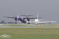 Flybe De Havilland Canada DHC-8-402Q (jonny4x4uk) Tags: cloud man rain dark manchester grey starwars airport air jet spray falcon airbus a380 boeing airways airlines 72 a330 jumbo a340 190 175 a320 b747 crj dash8 embraer 195 bombardier dehavilland atr a319 b737 ringway b767 b787 erj b757 egcc speedbird dhc8 dreamliner avgeek a350 a220 8 dash 900 dh8 flybe gprpd