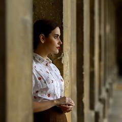 'Emily M' (AndrewPaul_@Oxford) Tags: emilym emily oxford university magdalen college new building vintage 1950s student natural light