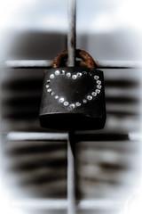 Love in the city of diamonds (vale0065) Tags: rust roest rusty roestig heart hart padlock hangslot lovelock grate diamond diamant antwerpen antwerp bridge brug belgium belgië liedesslot love liefde