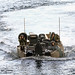 Japanese Soldiers transit to USS Germantown in an assault amphibious vehicle for exercise KAMANDAG 3
