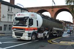 Lewis Tankers DAF CF AF63LRK - Stockport (dwb transport photos) Tags: lewistankersturners soham daf hgv af63lrk truck stockport