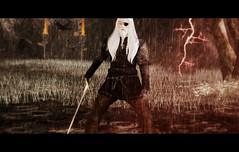 Young Odin (cinema) (Beowulf Morgwain) Tags: second life sl secondlife surreal virtual odin raven midgard yggrasil crow promise walhall valhall angel dutch tilt fantasy mystic scenary roleplay amazing exotic sephiroth supernatural dark edda munin hugin