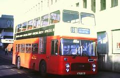 Slide 144-93 (Steve Guess) Tags: southampton hants hampshire england gb uk bus bristol ecw vrt dualpurpose semicoach solent blueline mustaphantom njt33p