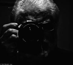 OK so I bought a new lens. (Neil. Moralee) Tags: neilmoralee olympus omd em5 10200mm lens dark soft high iso self selfie mirror subtle lowkey low key close man black white mono monochrome blackandwhite blackwhite hand