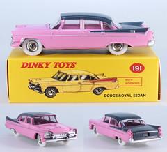 DIN-A-191-Dodge-pink (adrianz toyz) Tags: adrianztoyz dinky toys diecast toy model car 191 dodge royal atlas editions reissue pink black grey copy reedition