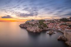 Sun sets on the Rock Fortress (Nikhil Ramnarine) Tags: europe croatia dubrovnik adriaticsea fortlovrijenac citywalls sunet longexposure travel travelphotography landscape nikon