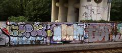 Trackside Graffiti (wojofoto) Tags: amsterdam graffiti streetart nederland netherland holland wojofoto wolfgangjosten trackside railway spoorweg spoor relax again tar