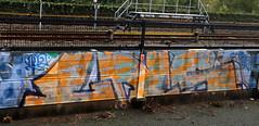 Trackside Graffiti (wojofoto) Tags: amsterdam graffiti streetart nederland netherland holland wojofoto wolfgangjosten trackside railway spoorweg spoor lns