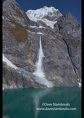 Icefall from an avalanche on Yerupajá, Laguna Gangrajanca, Cordillera Huayhuash circuit, Ancash, Peru (jitenshaman) Tags: travel worldtravel destination destinations southamerica latinamerica peru peruvian andes andean huaraz cordillera mountains mountain scenic scenery landscape landscapes beautiful nature naturalbeauty view vista views trek hike hiking trekking alpine peaks breathtaking granite adventuretravel trail path route hiker trekker huayhuash cordillerahuayhuash yerupajá yerupaja snow outdooradventure outdoors ancash theandes summits ice icefall avalanche lake gangrajanca lagunagangrajanca