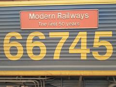 66745 nameplate (chriswarman) Tags: modern railways 66745 class66 3j01 bescot london euston bletchley water cannon locomotive loco gm gbrf