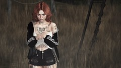 Been on My Mind For Ages (Elise~Mersereau) Tags: amias dappa lunar girl portrait red sl secondlife