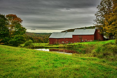 Barn at Jenne Farm:Pomfret, Vermont (Chad Straw Images) Tags: vermont travel travelphotography traveling trees colors clouds countryside pond redbarn fall farm foliage fallcolors amazing autumn agriculture landscape landscapephotography landscapes leaves nikon newengland nikond610 nikonphotography nature america unitedstates rural scenery