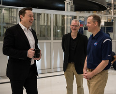 NASA Administrator Visits SpaceX HQ (NHQ201910100009) (NASA HQ PHOTO) Tags: ca jimbridenstine spacex hawthorne elonmusk spacexheadquarters nasa aubreygemignani nasaadministrator