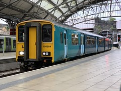 150284 Liverpool Lime Street 10/10/2019 (Martin Coles) Tags: trains train rail railways railway liverpoollimestreet liverpool 150284 class150 sprinter transportforwales tfw