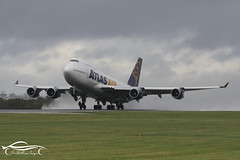 Atlas Air Boeing B747-446 (jonny4x4uk) Tags: man egcc manchester airport ringway cloud rain spray dark grey avgeek boeing airbus b737 b747 b757 b767 b787 a380 a350 a340 a330 a320 bombardier embraer erj crj dehavilland dh8 dash 8 190 175 195 atr 72 900 british ba speedbird virgin atlantic emirates etihad ryanair easyjet qatar singapore wamos atlas tap portugal flybe canada rouje malaysia jet2 holidays eurowings tui plus ultra blue panorama scandinavian sas n464mc air
