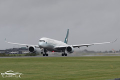 Cathay Pacific Airbus A350-941 (jonny4x4uk) Tags: man egcc manchester airport ringway cloud rain spray dark grey avgeek boeing airbus b737 b747 b757 b767 b787 a380 a350 a340 a330 a320 bombardier embraer erj crj dehavilland dh8 dash 8 190 175 195 atr 72 900 british ba speedbird virgin atlantic emirates etihad ryanair easyjet qatar singapore wamos atlas tap portugal flybe canada rouje malaysia jet2 holidays eurowings tui plus ultra blue panorama scandinavian sas cathay pacific blri