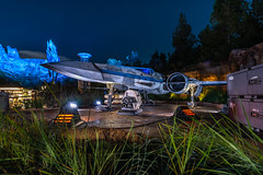 X-Wing on Batuu (BBQMonster) Tags: 2019 capturingthemagic copyrightc2019toddfburgessallrightsreserved disneyafterdark disneyhalloween nikkor1424mmf28g nightphotography nikond750 toddburgess toddfburgess wideangle d750176721 xwing xwingfighter resistance resistancefighter batuu galaxysedge starwarsgalaxysedge starwars blackspireoutpost disneyland starwarsland night d750 wideangledisney cam 1424 1424mmf28g stars