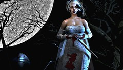 Bloody Bride (OSunshinezO) Tags: secondlife sl slavatar spoofy mystical fantasy scary spooky halloween bloody dead zoom focus poses