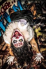 Kat Clown (Paulann_Egelhoff) Tags: halloween clown it cosplay costume fangs teeth blood makeup mouse ears mouseears captainspaulding robzombie dark goth model modeling photography art design edit retouch adobe sony photoshop lightroom alpha phoenix az arizona artdiscovered instagram paulann paulannegelhoff queer lgbtq