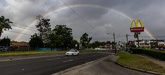 rainbow (karwinho) Tags: rainbow city urban color cityscape sky clouds mcdonalds australia road car street sydney
