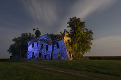 Abandoned Home Cool-Warm II (Notley Hawkins) Tags: httpwwwnotleyhawkinscom notleyhawkinsphotography notley notleyhawkins 10thavenue rural missouri abandoned missouriphotography lightpainting 光绘 光繪 lichtmalerei pinturadeluz ライトペインティング प्रकाशपेंटिंग ציוראור اللوحةالضوء trees 2019 sky blue bluelight eerie moon lunar moonlight httpwwwnotleyhawakinscom land bucolic landscape farm house home summer slatermissouri salinecountymissouri architecture facade longexposure warmcool orangelight warm cool september