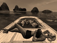 Relaxing On A Boat (ivyisla.sl) Tags: virtualworld virtualphotography virtualmodel virtualworlds avatar slavatar secondlife slphotography sl secondlifephotography secondlifestyle slfashion boat