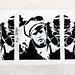 Marlon Brando pasted paper by A.L. Tony [Paris 2e]