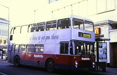 Slide 144-91 (Steve Guess) Tags: southampton hants hampshire england gb uk bus bristol ecw vrt dualpurpose semicoach hampshirebus nel120p