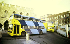 Slide 144-89 (Steve Guess) Tags: southampton hants hampshire england gb uk bus bargate solent blueline mustaphantom leyland olympian