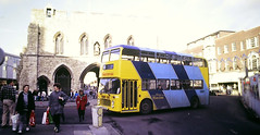 Slide 144-88 (Steve Guess) Tags: southampton hants hampshire england gb uk bus bargate bristol ecw vrt solent blueline mustaphantom conductorbus