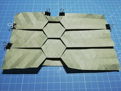 Hexagonal roof tiling study (ISO_rigami) Tags: origami tessellation elephanthide