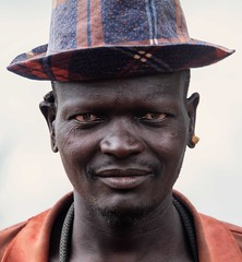 Turkana Tribe (Rod Waddington) Tags: africa afrika african afrique uganda ugandan turkana traditional tribe tribal warrior man hat culture cultural ethnic ethnicity portrait people