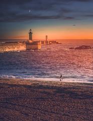 Farol das Felgueiras (Ro Cafe) Tags: lighthouse sea seascape sand sunset oporto portugal summer travel nikkor2470mmf28 sonya7iii