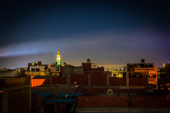 5534 (obyda) Tags: color night egypt light sky building abstract mosque smoke